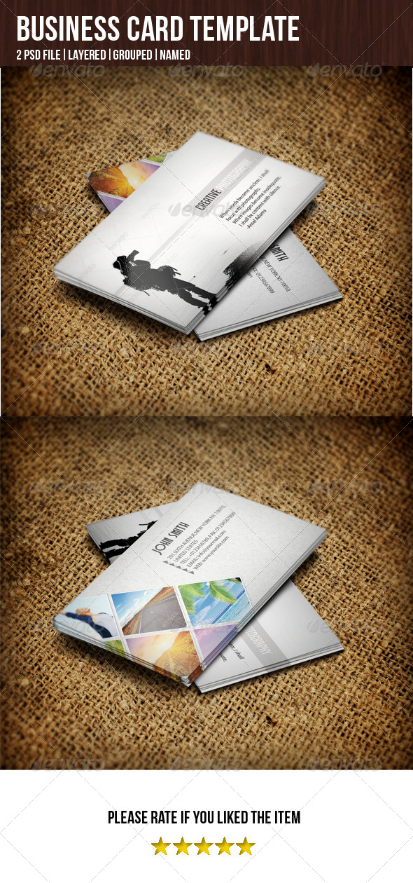 GraphicRiver Business Card For Photographer 5355704