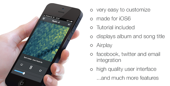 CodeCanyon Radio v2 Radio App for iPhone iOS6 5355833