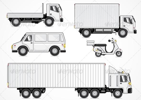 GraphicRiver White Cartoony Transport 5355840