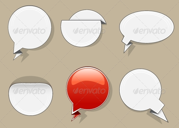 GraphicRiver White and Red Circle Banners 5355862
