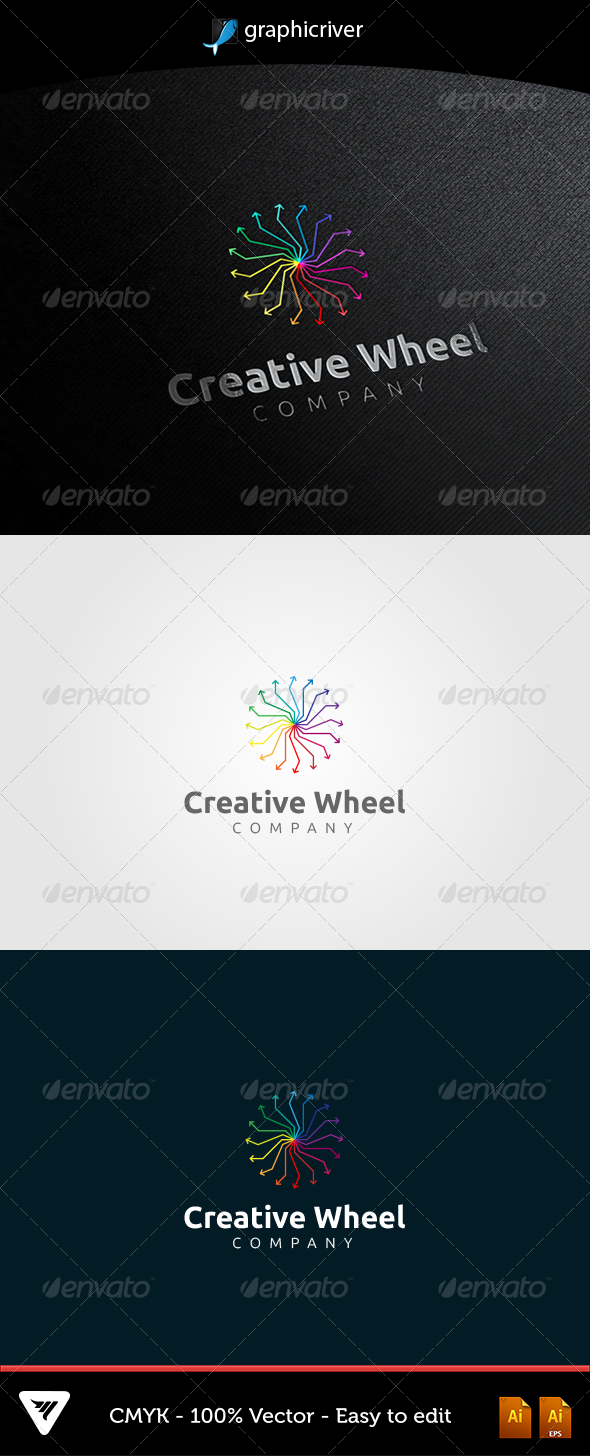 GraphicRiver Creative Wheel Logo 5355870