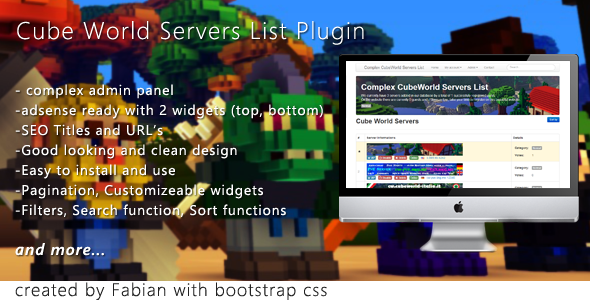 CodeCanyon Complex Cube World Servers List 5355921