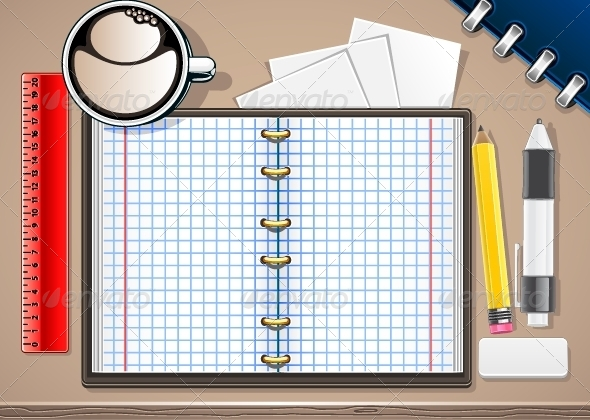 GraphicRiver Vector School Copybook 5355924