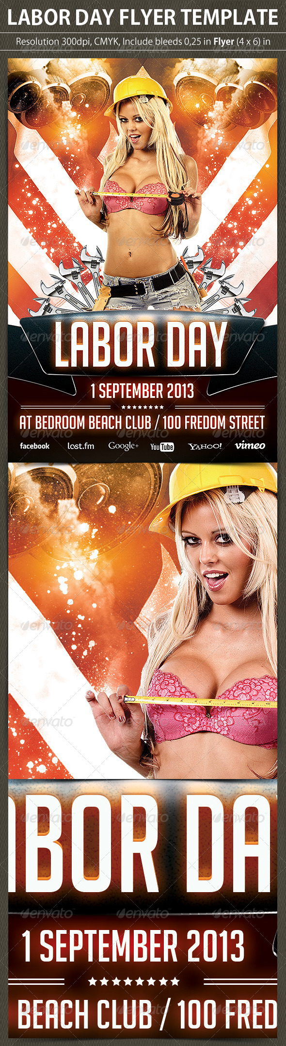 GraphicRiver Labor Day Flyer Template 5355932