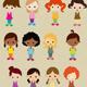 Vector Little Girls Set - GraphicRiver Item for Sale