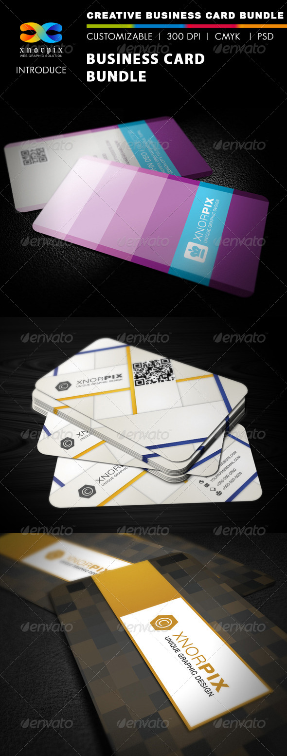 GraphicRiver Business Card Bundle 3 in 1-Vol 19 5356053