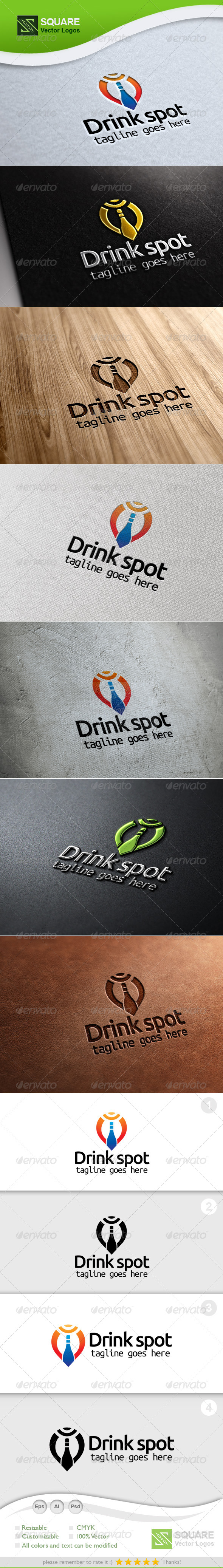 Drink, Locator Vector Logo Template - Symbols Logo Templates