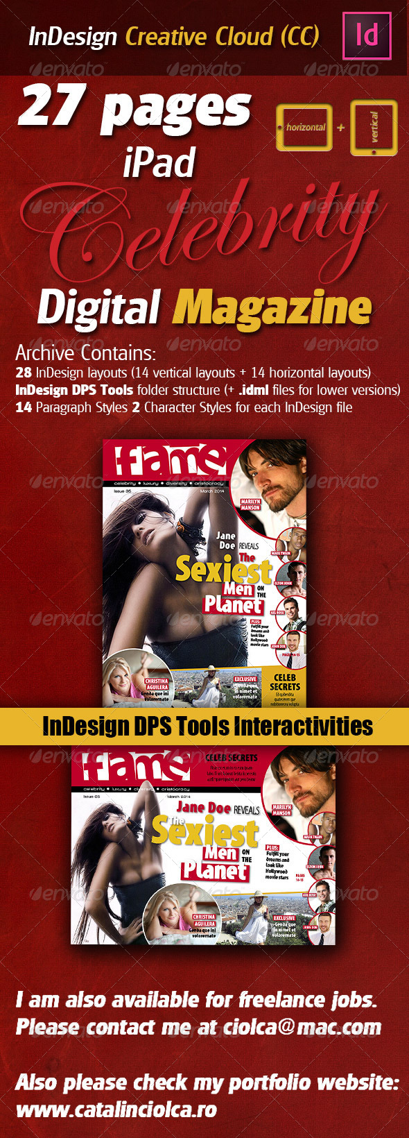 GraphicRiver 27 Pages iPad Celebrity Digital Magazine 5237113