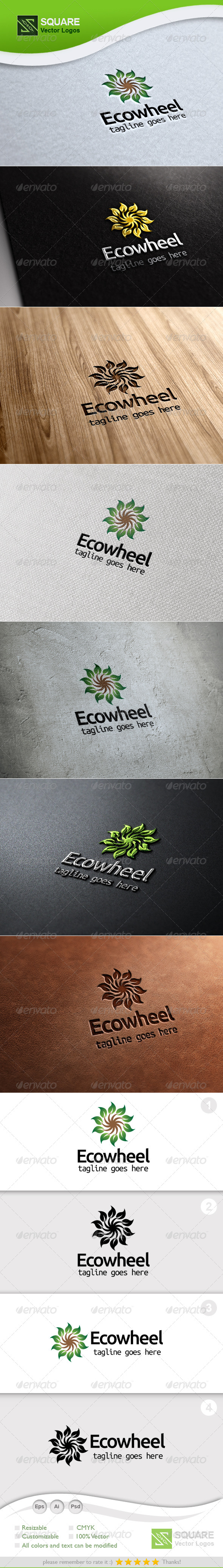 Eco, Wheel Vector Logo Template - Nature Logo Templates