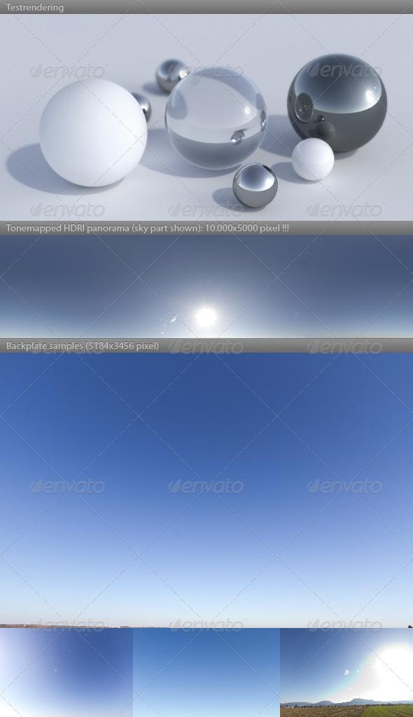 3DOcean HDRI spherical sky panorama 1434- sunny noon sky 5356863