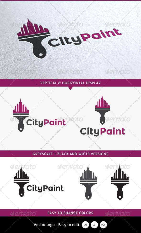 GraphicRiver City Paint Logo 5352506