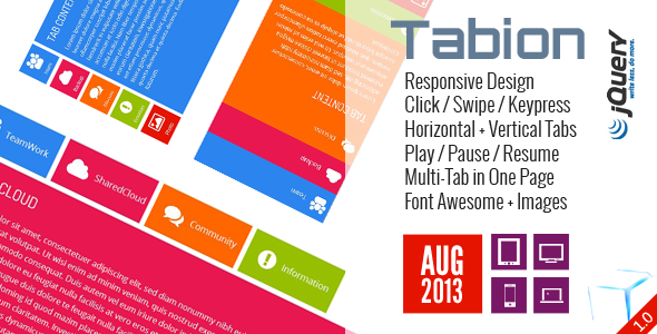 Tabion jQuery - Modern Responsive Tab Accordion - CodeCanyon Item for Sale