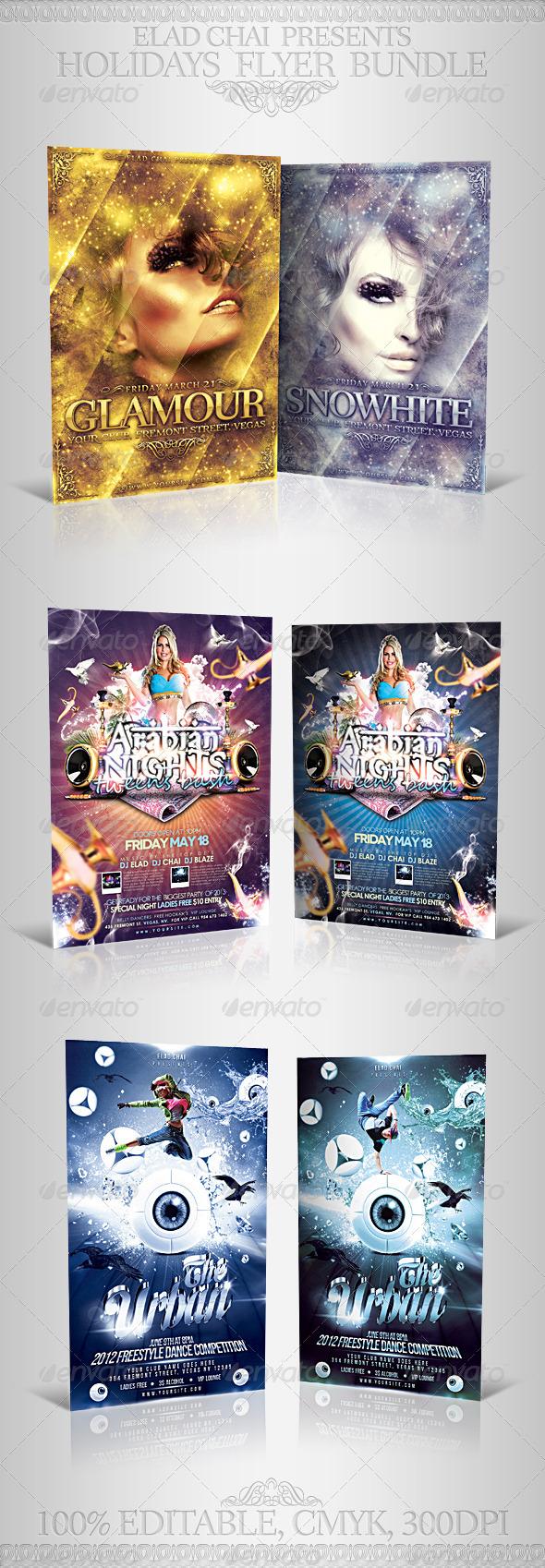GraphicRiver Unique Party Events Flyer Bundle 5357014