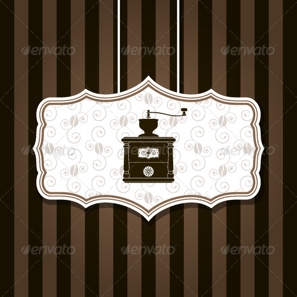 GraphicRiver Coffee Grinder Background 5357386