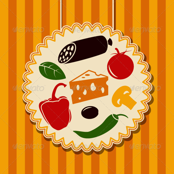 GraphicRiver Pizza Ingredients 5357419