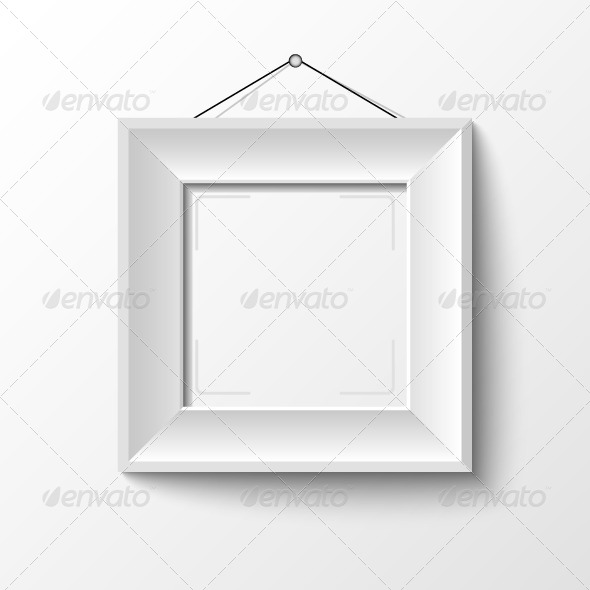 GraphicRiver White Wooden Frame 5357425