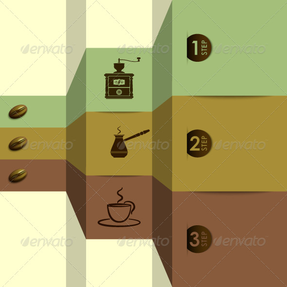 GraphicRiver Coffee Infographic Background 5357501