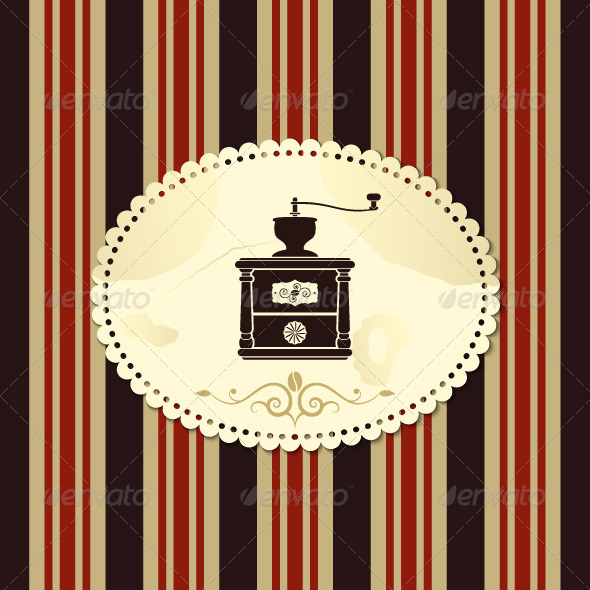 GraphicRiver Coffee Grinder Background Vintage 5357622