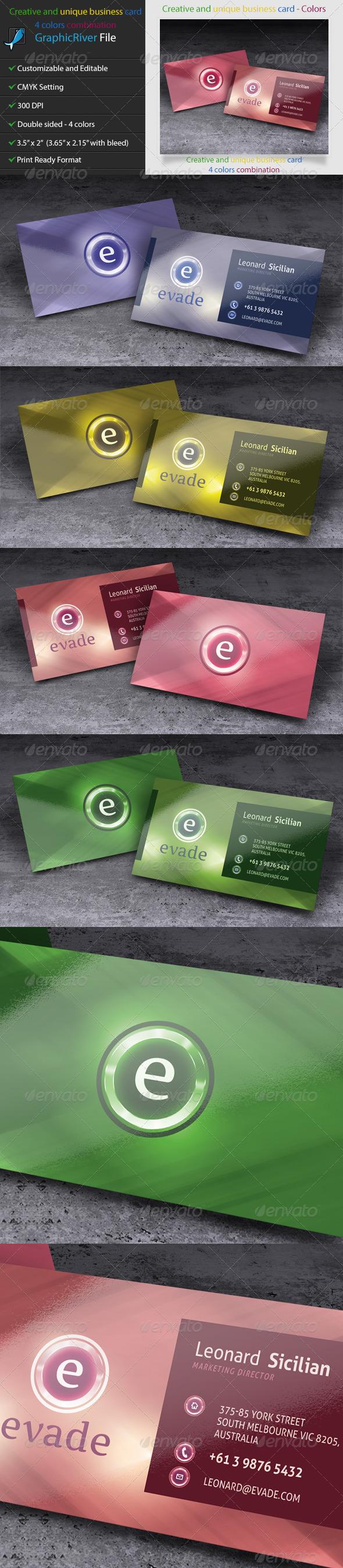 GraphicRiver Creative and unique business card 2 5281617