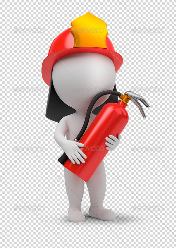 GraphicRiver 3D small people fireman 5261924