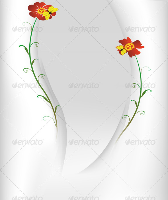 GraphicRiver Postcard with Two Flowers 5357978