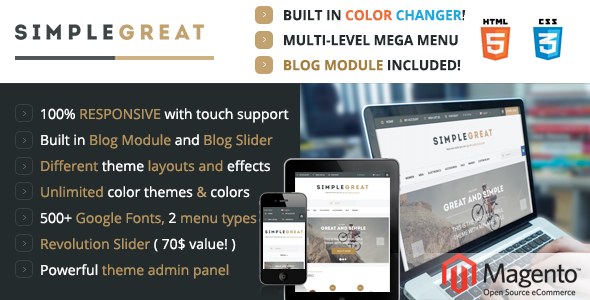 ThemeForest SimpleGreat Premium Responsive Magento theme 5357988