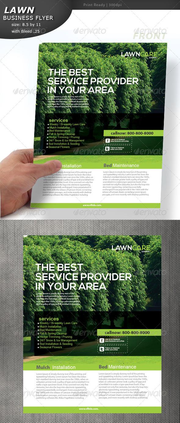GraphicRiver Lawn Care Flyer 5357989