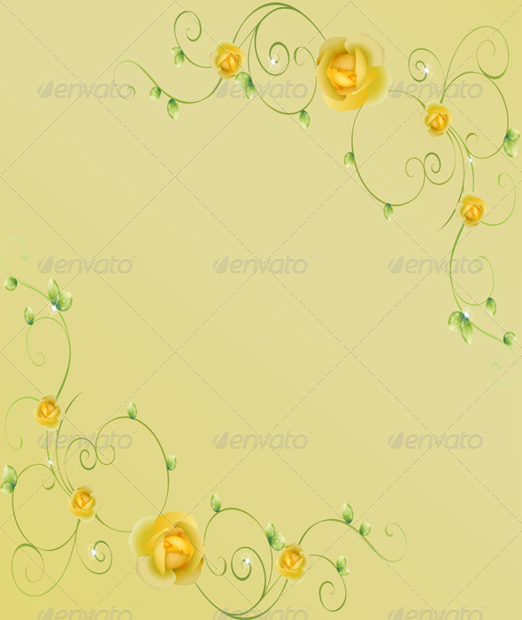 GraphicRiver Card with Flowers and Leaves 5358076
