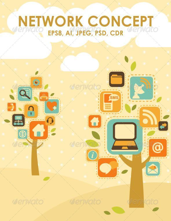 GraphicRiver Network Trees 5358426