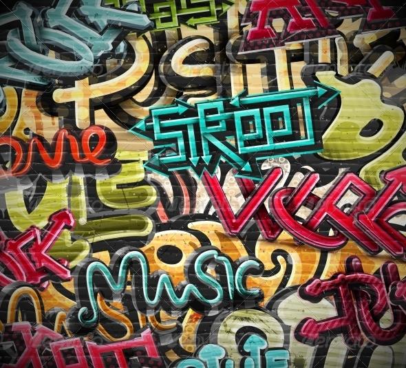 GraphicRiver Graffiti Grunge Texture 5358464