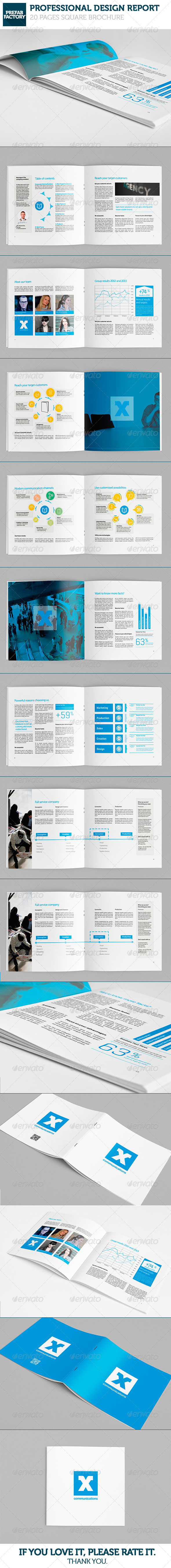 GraphicRiver Communication Square Brochure 5315214