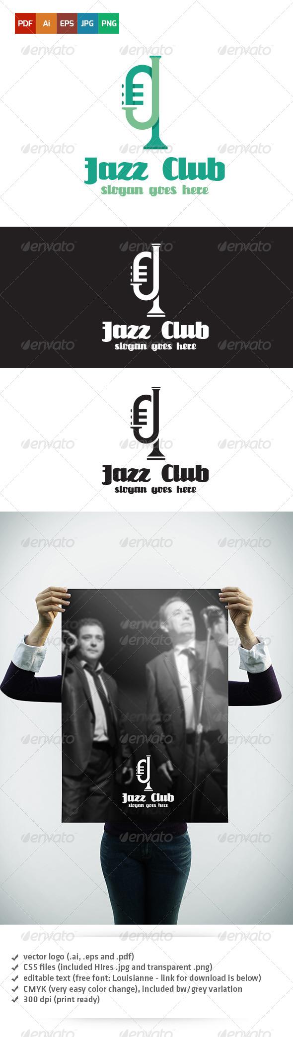 GraphicRiver Jazz Club Logo 5354221
