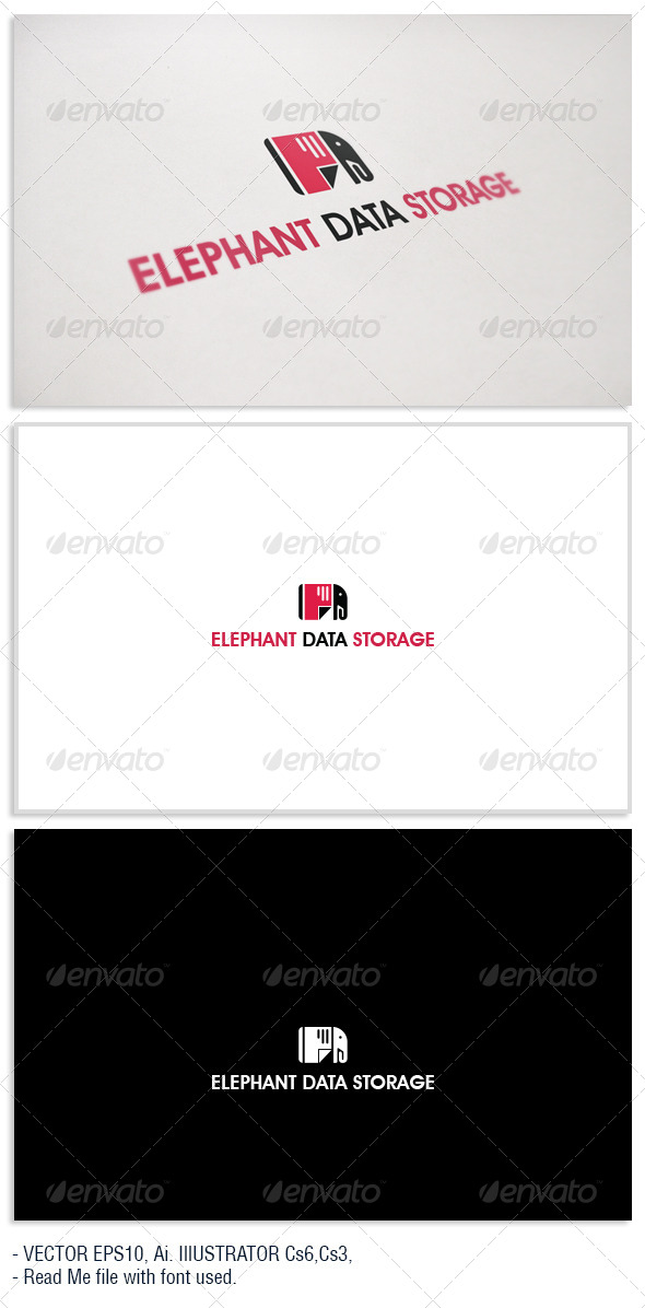 GraphicRiver Elephat Data Storage Logo 5358829