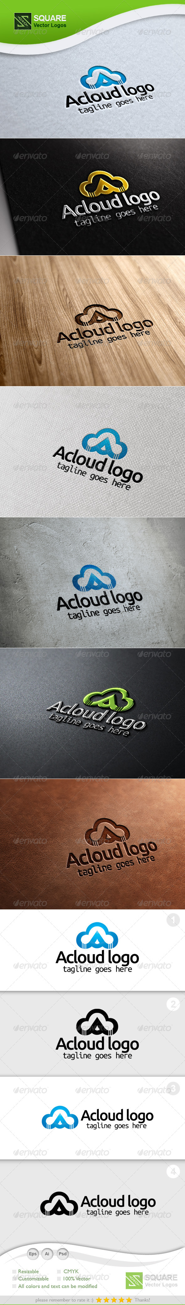 A, Cloud Vector Logo Template - Symbols Logo Templates