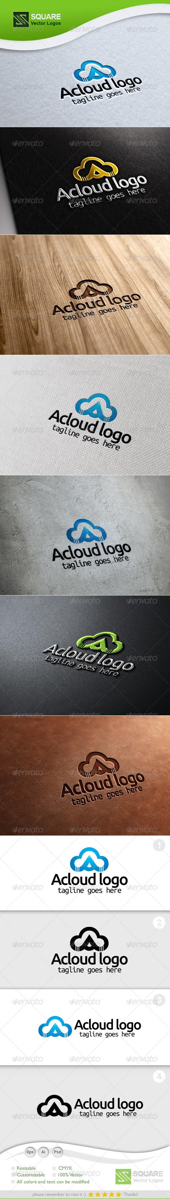 A, Cloud Vector Logo Template - Symbols Logo Templates
