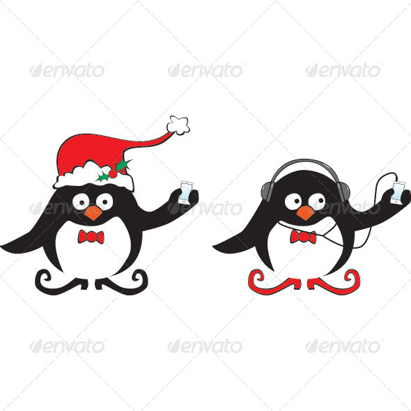 GraphicRiver Penguins with iPhone and iPod 5358857