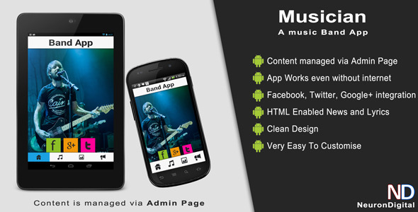 CodeCanyon Musician A Music Band Android App 5358978
