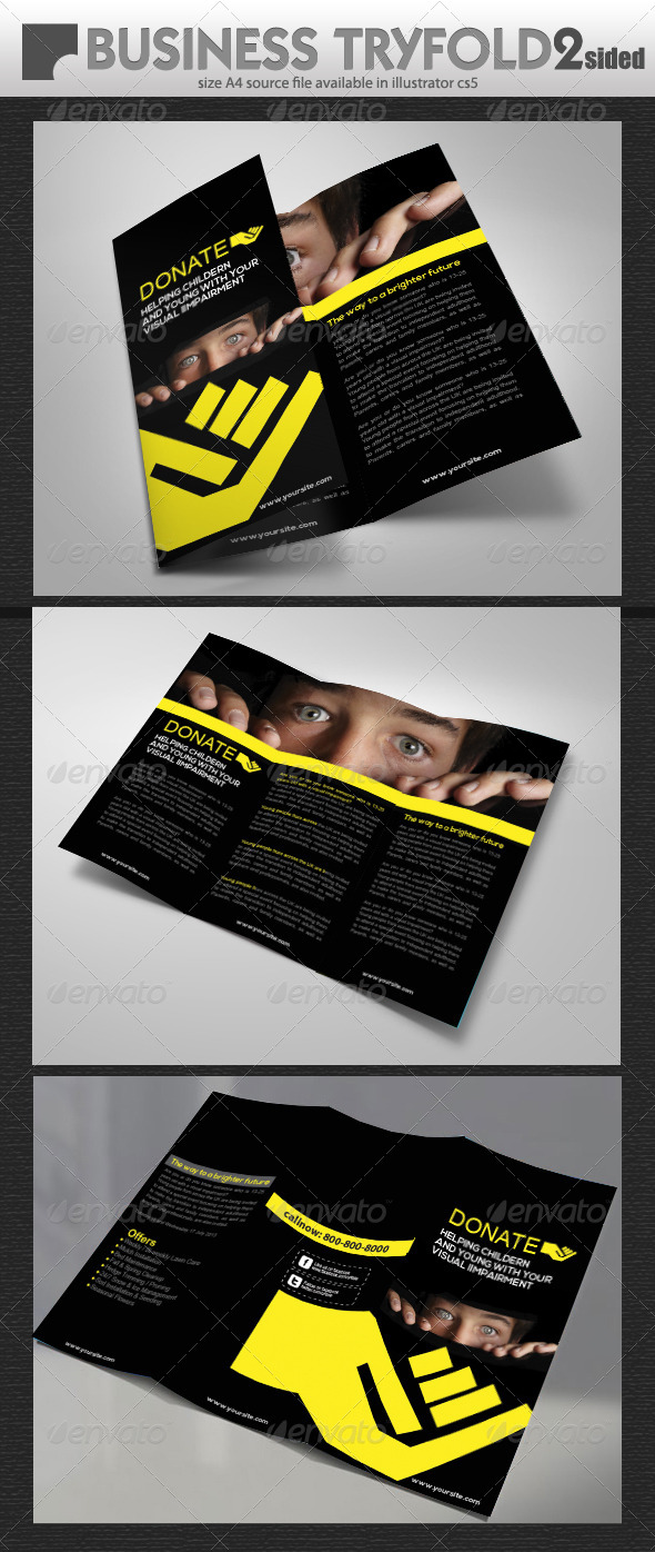 GraphicRiver Charity Donation Tri-Fold 5358993