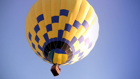 Yellow-Blue Hot Air Balloon