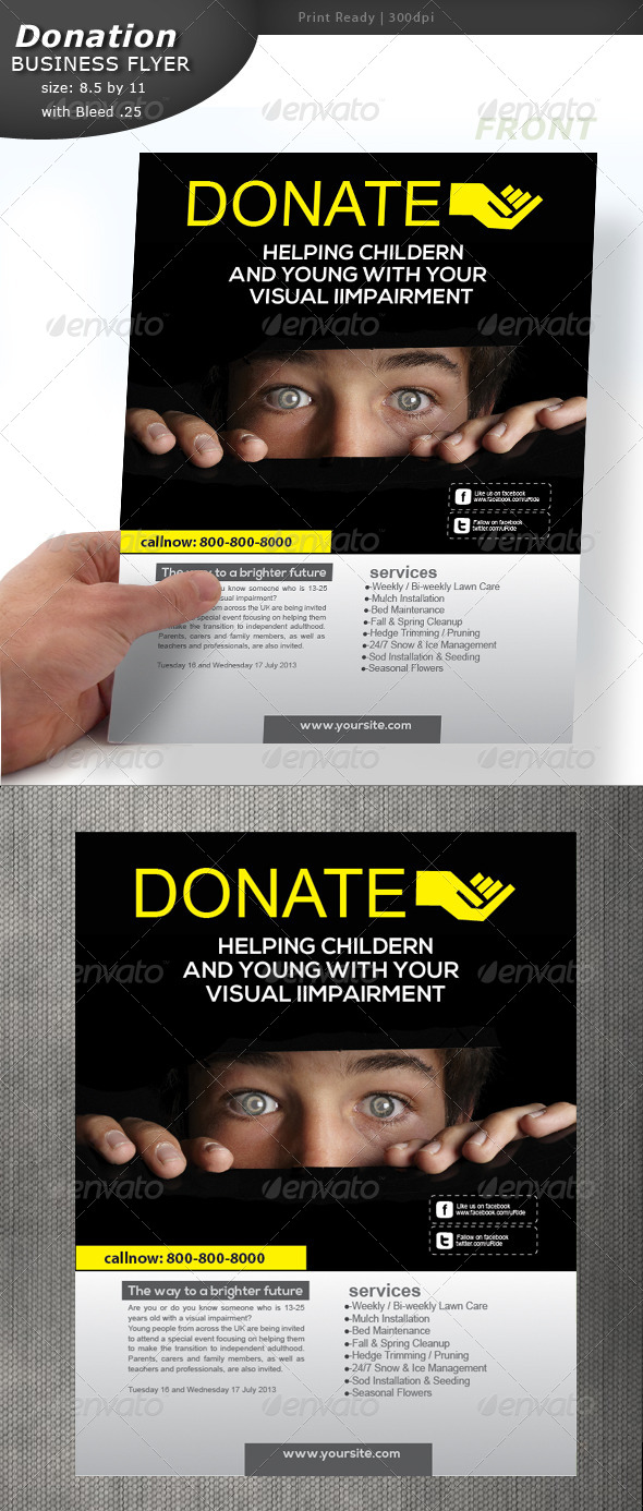 GraphicRiver Donation Flyer 5359023