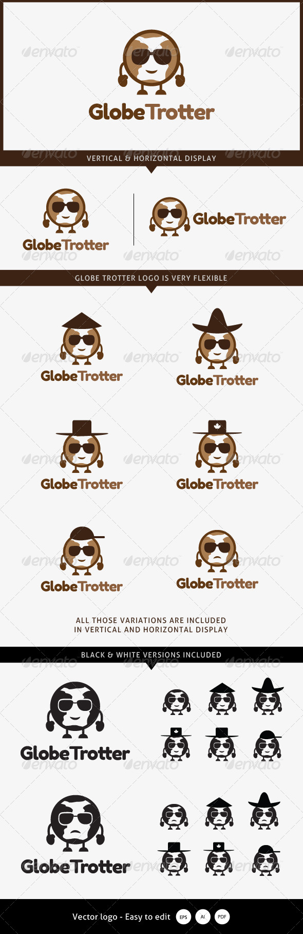 GraphicRiver Globe Trotter Travel Logo 5334510