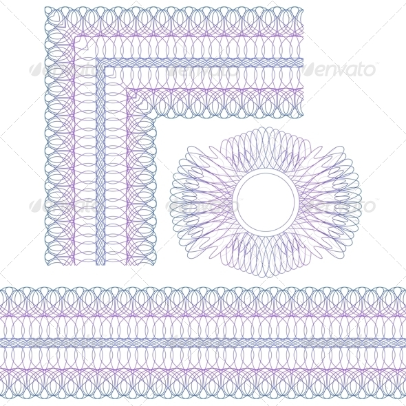 GraphicRiver Corner Border and Rosette 5359042