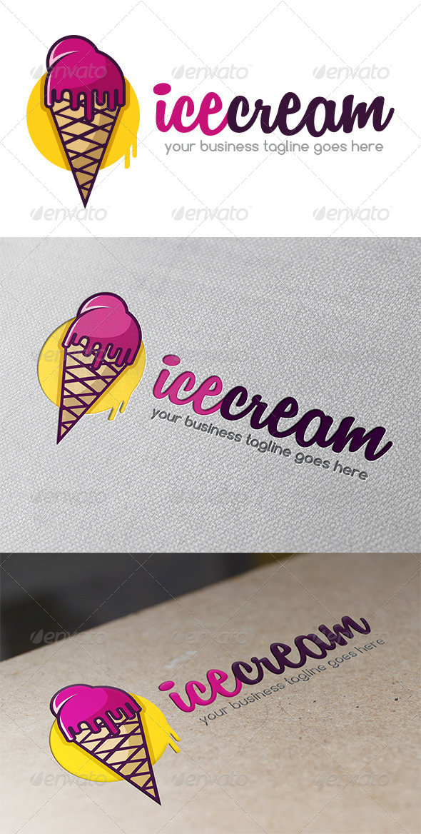 GraphicRiver Ice Cream Logo Template 5359098