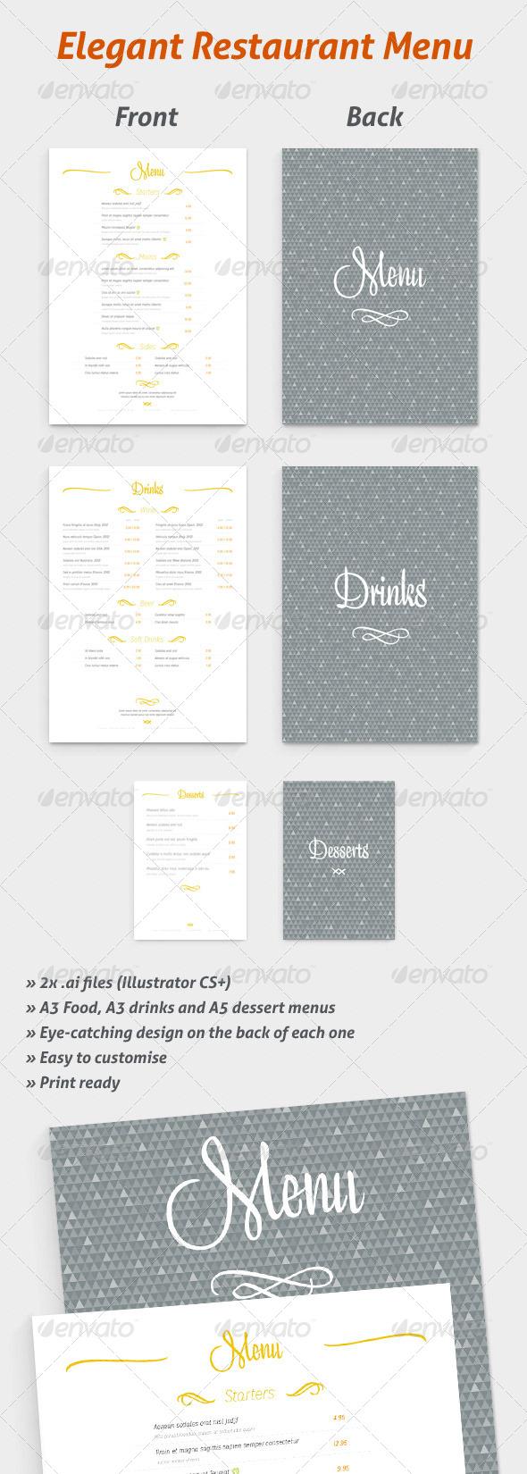 GraphicRiver Restaurant Menu Set 5314312