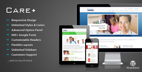 Care - Medical and Health Blogging Wordpress Theme - Health & Beauty Retail