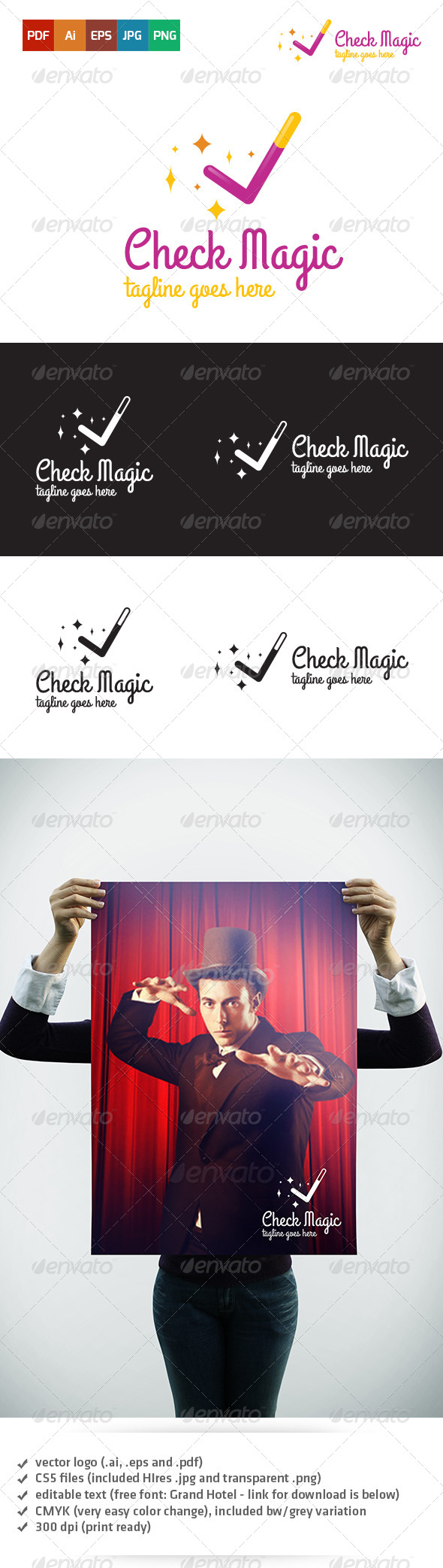 GraphicRiver Check Magic Logo 5359194