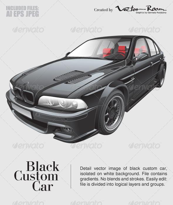 GraphicRiver Black Custom Car 5359200