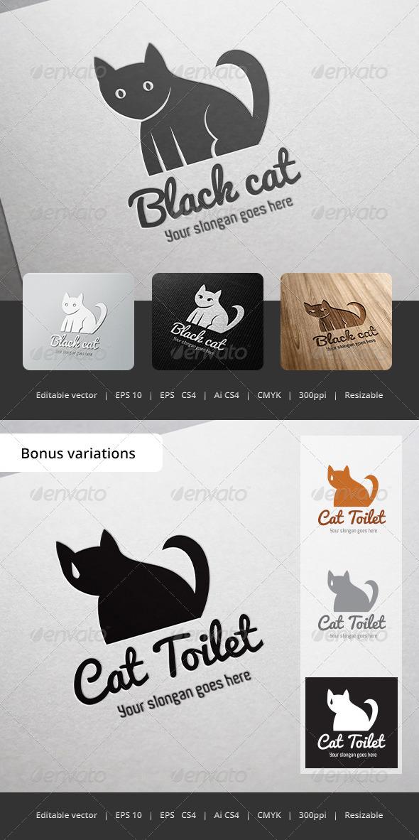GraphicRiver Black Cat Logo 5358153