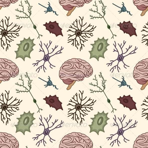 GraphicRiver Seamless Pattern of the Neurons 5359542