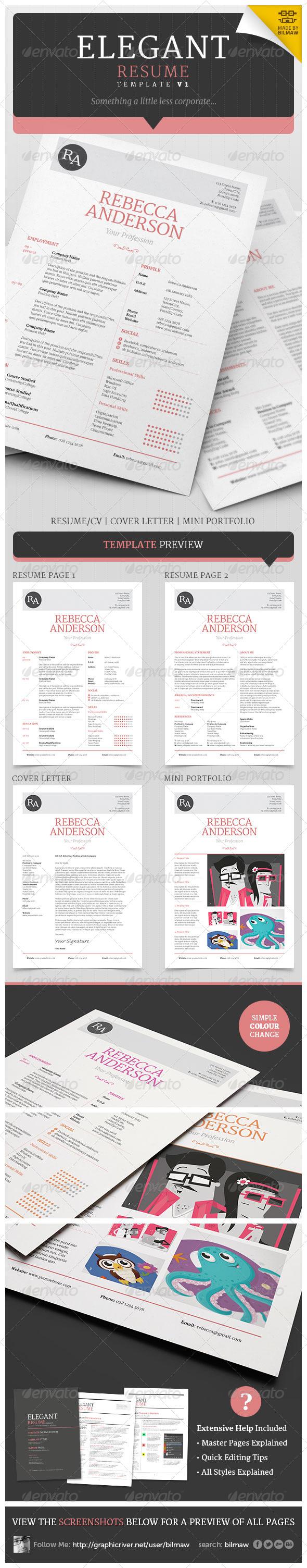 GraphicRiver Elegant Resume CV V1 5359564